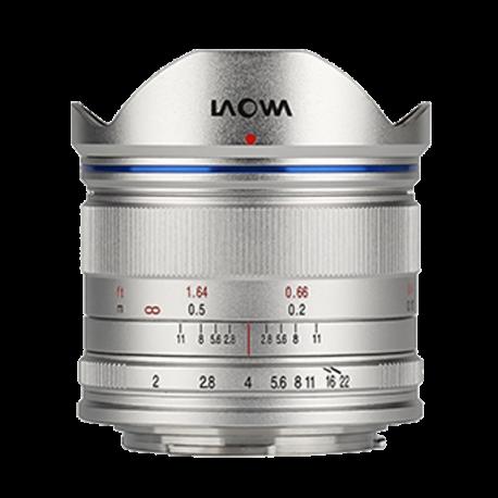 Laowa 7.5 mm f/2 MFT odlehčená verze pro dron stříbrné provedení