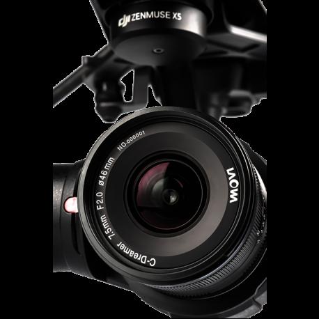 Laowa 7.5 mm f/2 MFT odlehčená verze pro dron černé provedení